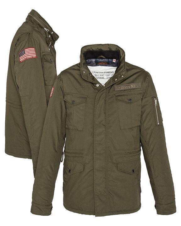 Schott NYC , M-65 style in dark khaki  175 €