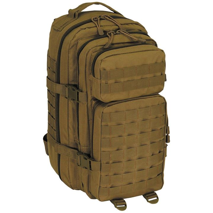 Tactical backpack water repellent available in khaki or black  ONLY 45 €