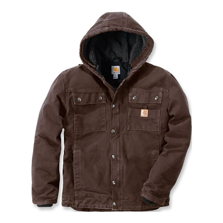 CARHARTT BARLETT SANDSTONE JACKET, BUILT TO BEAT COLD, AVAILABLE IN DARK BROWN 175 €