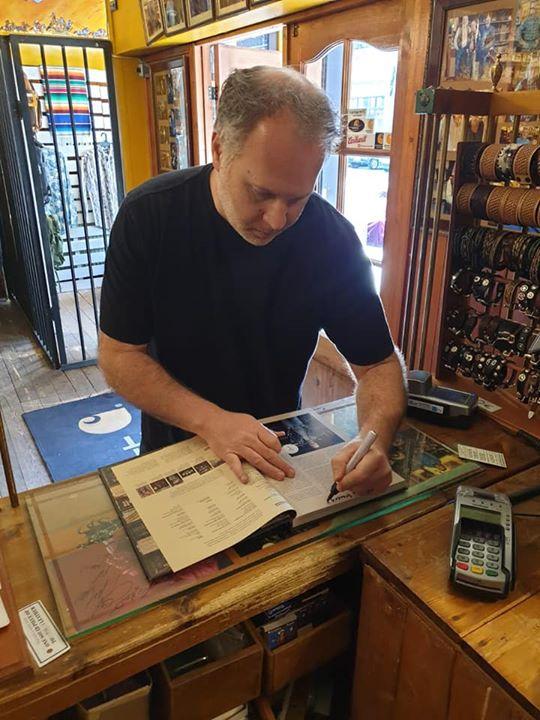 Book signing. Jason Schott from New York. Legendary Perfecto jacket.