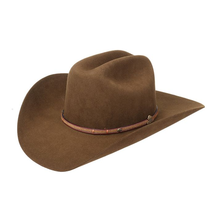 The Stetson Powder River cowboy hat is expertly crafted of real 4X buffalo felt, for feel and durability wool can't match. Proudly made in the USA . Water resistant. 199 €